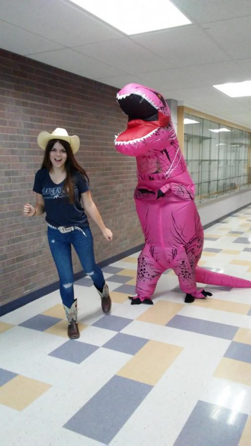 Homecoming Spirit day, Cowboys vs Dinosaurs