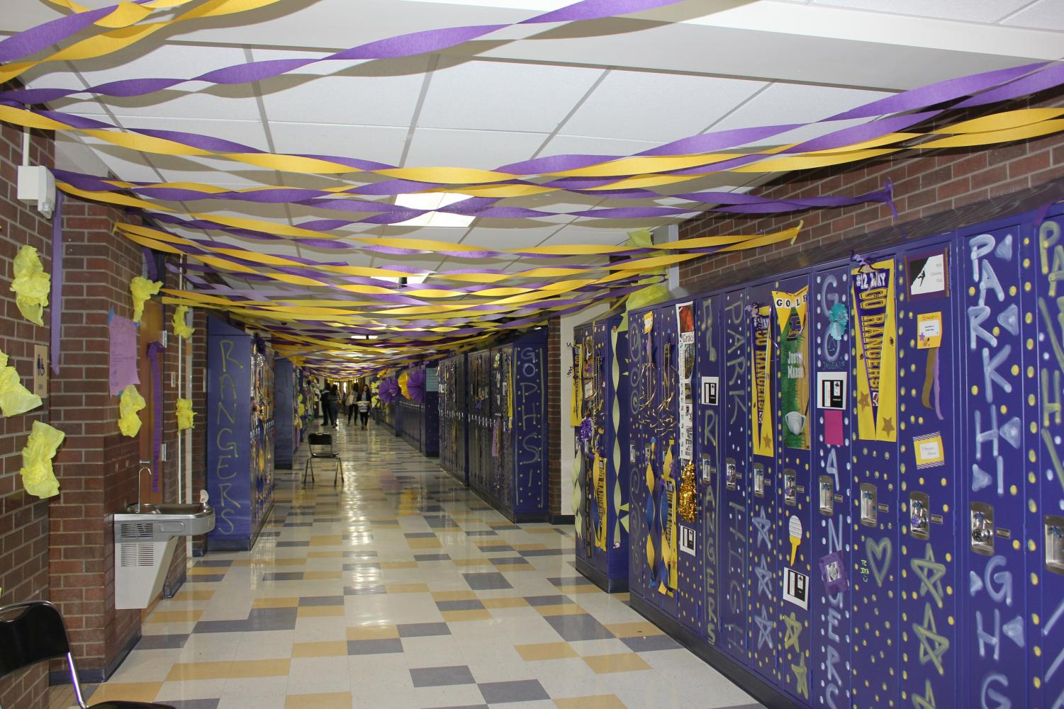 Sophomore hallway at PHS during hall decoration Sunday September 23rd.  Photo credit Calogero Olds