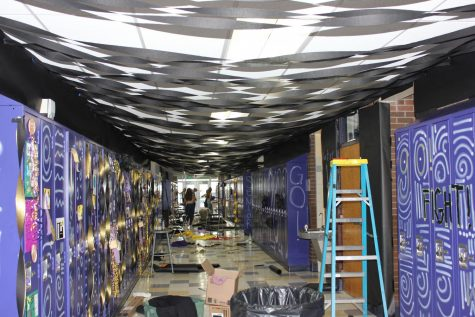 Home Coming Hall Decorations Create a Challenging Problem for PHS Janitors