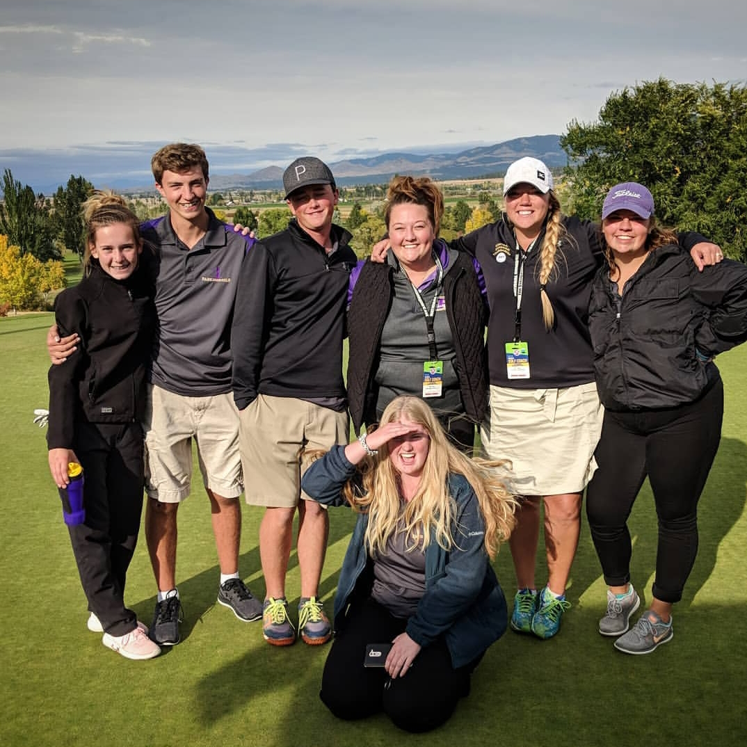 Park High golfers participate at this year's state tournament.