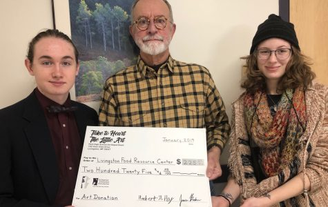Student art funds food for kids