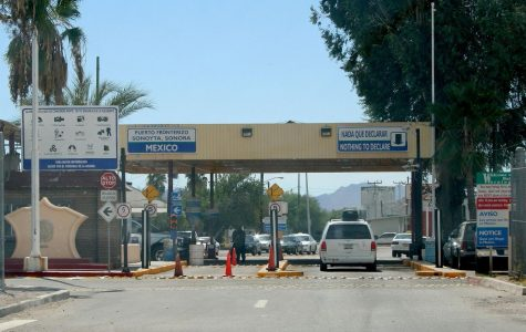 A photo of the border crossing at Lukeville, Arizona, where Chase Petrulis crossed into Mexico for spring break.