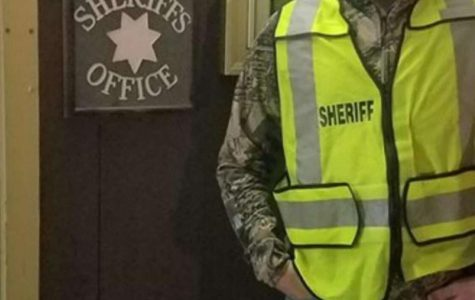 Logan Brownlee learning about law enforcement