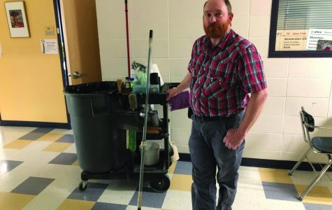 Park High's Jeremia works the after school janitorial shift.