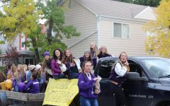Park High students flood the streets with purple and gold