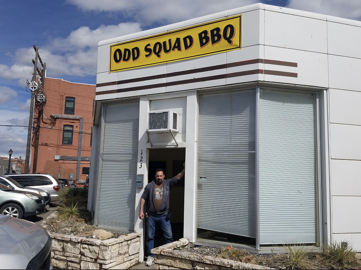 Gary Debban is renovating the old Key Insurance building into a BBQ restaurant,  to open next month.