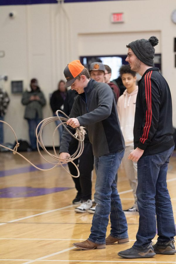 T.J Weimer demonstrates how to use a rope