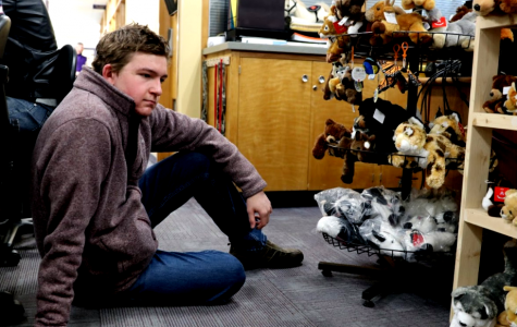 Tom Sargis contemplates the commercialization of love as he stares down the Val-O-Grams in the attendance office.