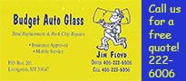 Budget Auto glass ad
