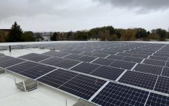 The solar panels installed on the PHS roof this year were made possible through a variety of grants coordinated by the PHS Green Initiative club.