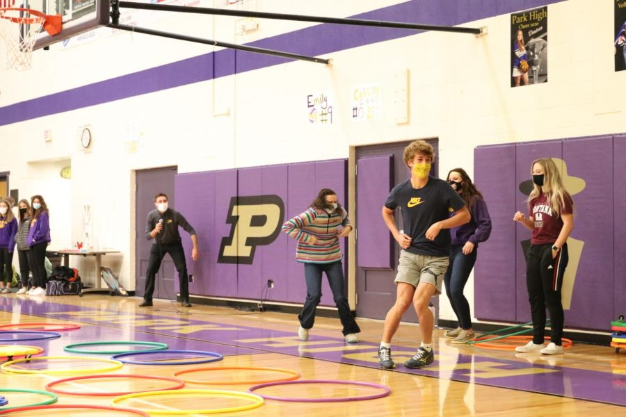 Tristan Stenseth's chicken dance 360 marks the end of the relay race.  The senior won the championship round.