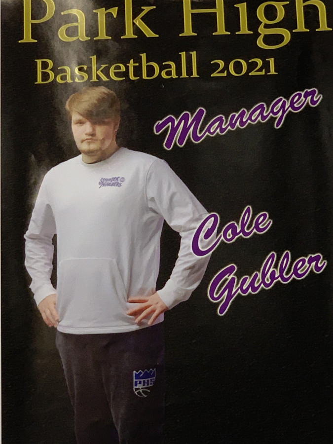 Cole Gubler, manager for the boys basketball team.