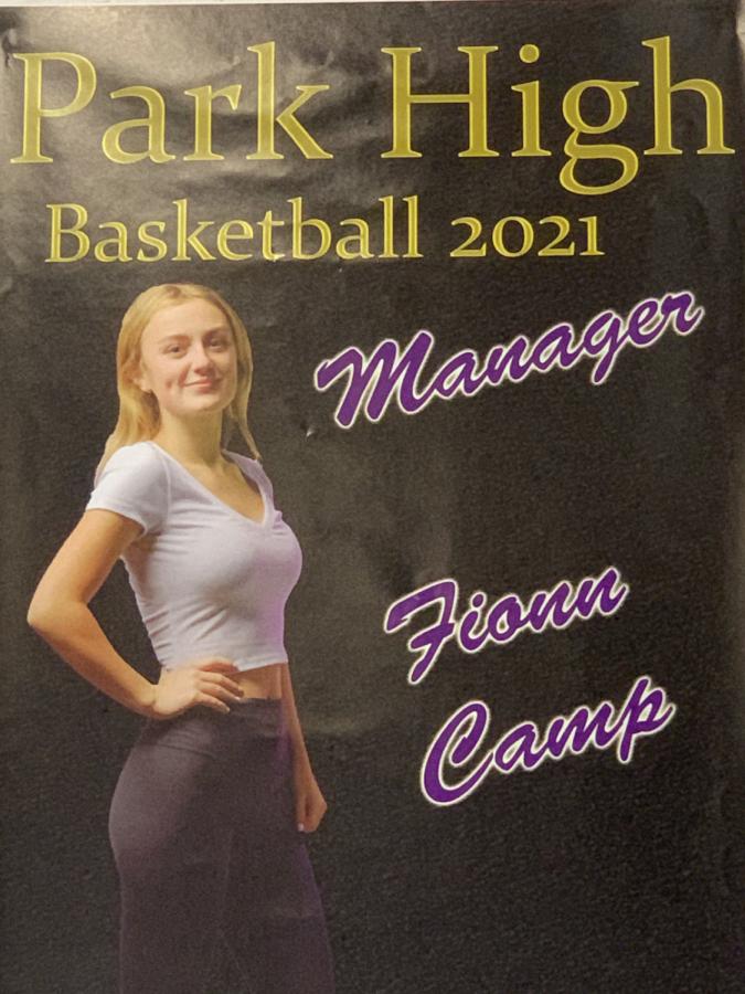 Fionn Camp, manager of the boys basketball team.